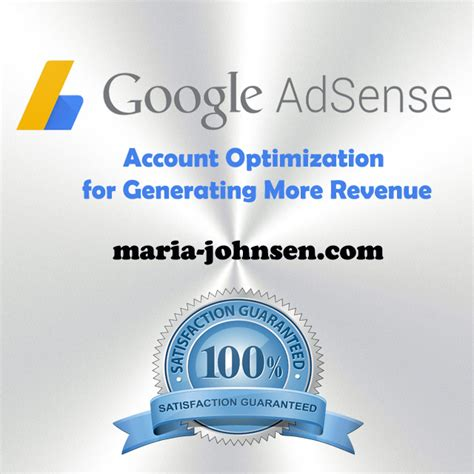 Google Adsense Account Optimization 2019 - Maria Johnsen.