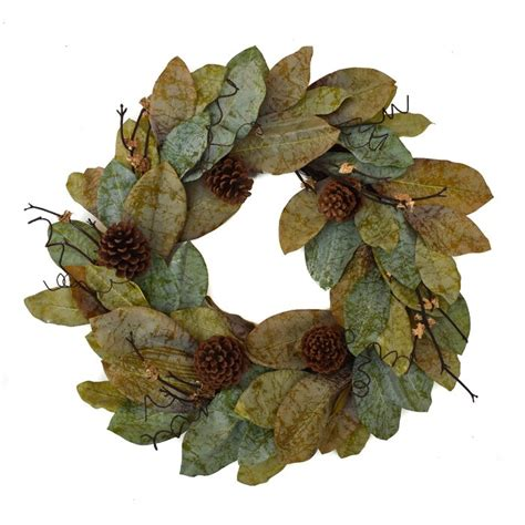 Gracie Oaks Forest Magnolia 24  Wreath - Walmart Com