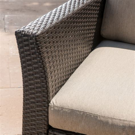 Grady Outdoor Aluminum Framed Mix Brown Wicker Club Chairs .