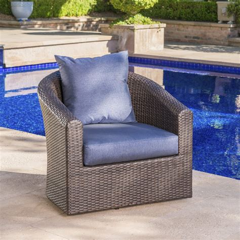 Grady Outdoor Aluminum Framed Mix Brown Wicker Club Chairs Review.