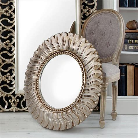 Great Deal On Ophelia Champagne Wall Mirror - Champagne.
