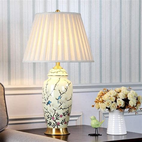 Great Deal On Porcelain Table Lamp With Bird Scene.
