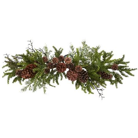 Great Deal On Silk Plants Direct Pine Cone Wreath Set Of 1.