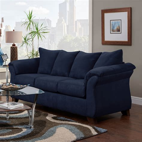 Great Price Attractive Microfiber Chaise Lounge Dark Blue .