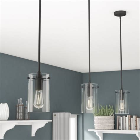 Greyleigh Sue 1-Light Cylinder Pendant  Reviews  Wayfair.