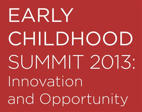Groundbreaking Cross-Sector Summit To Address The Impact Of Early.