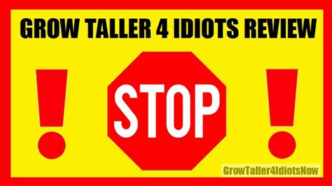 @ Grow Taller 4 Idiots - Will It Really Work For You In .