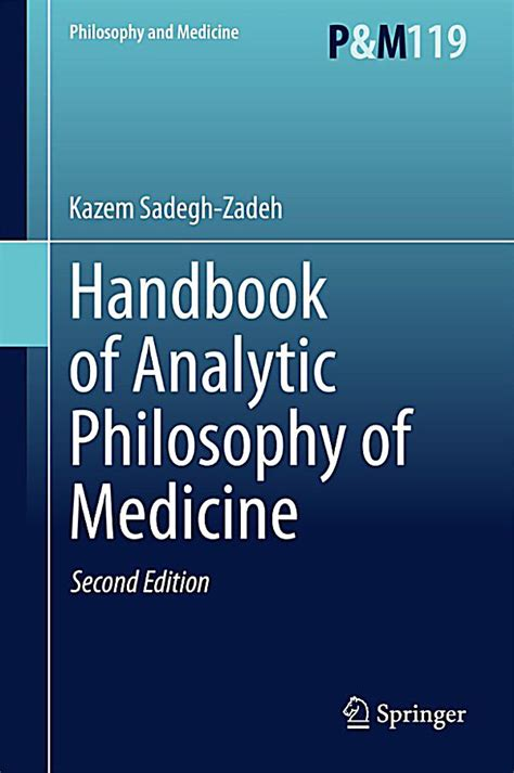 [pdf] Handbook Of Analytic Philosophy Of Medicine.