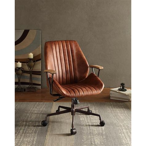 Hamilton Cocoa Leather Top Grain Leather Office Chair.