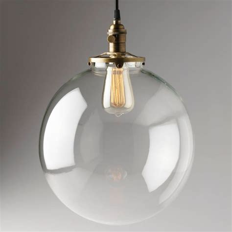 Hanging Glass Pendant Light  Etsy.