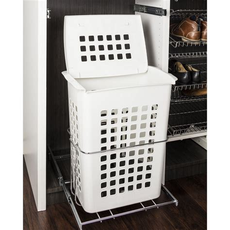 Hardware Resources Plastic Pullout Hamper With Lid .