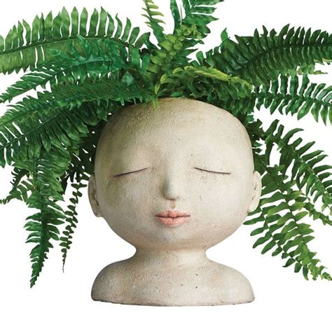 Head Of A Lady Indoor Outdoor Resin Planter  71 Reviews .
