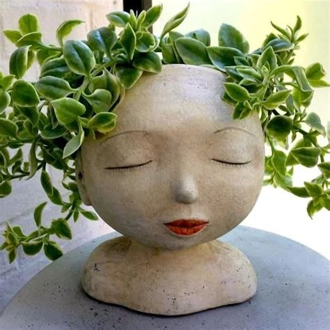 Head Of A Lady Indoor Outdoor Resin Planter In 2019 .
