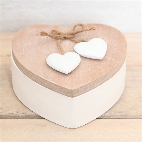 Heart Shaped Wooden Trinket Boxes