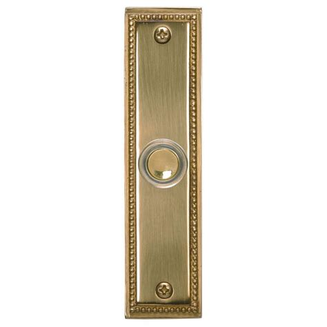 Heath Zenith Hx-701-Sn Wired Push Button With Recessed .