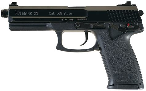 Heckler  Koch Mark 23 Pistol 45 Acp 5 8in Threaded 10rd .
