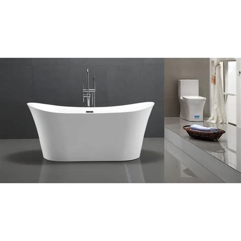 Helixbath Amathous Freestanding Acrylic Bathtub 67 White .