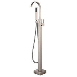 Helixbath Snoqualmie Gooseneck Tub Faucet Brushed Nickel .