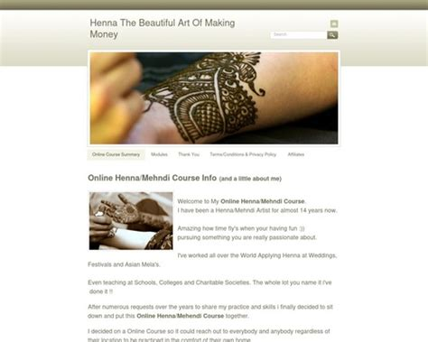 [click]henna The Beautiful Art Of Making Money - Henna Courses .