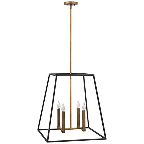 Hinkley Fulton 22 Wide Bronze Entry Pendant - 4y169 .