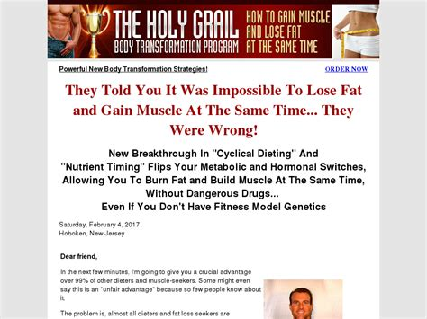 Holy Grail Body Transformation, Lose Fat And Gain - Pinterest.