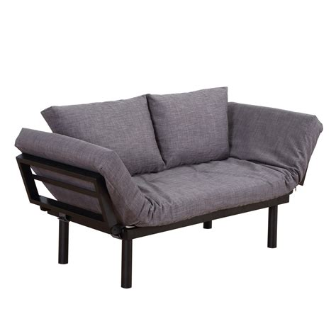 Homcom Convertible Couch Chaise Furniture Lounger Sofa Bed .