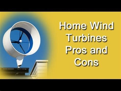 [click]home Wind Turbines - Pros And Cons.