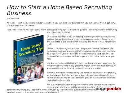 [click]homebasedrecruitingtips Com Home Based Recruiting Tips .