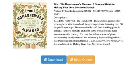 [pdf] Homebrewers Almanac Seasonal Making Scratch.