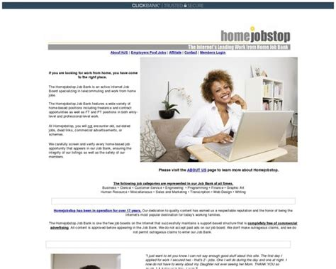 [click]homejobstop Com Telecommuting Resource For Work At Home Jobs.