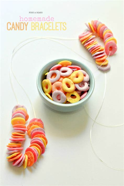 Homemade Candy Bracelets - Fork And Beans.