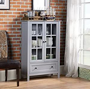 Homestar With 2-Door 1-Drawer Glass Cabinet 47 24 X 31 .