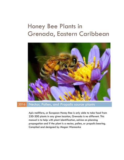 [pdf] Honey Bee Plants In Grenada Eastern Caribbean.