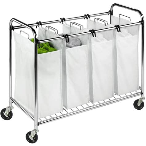 Honey Can Do Commercial-Grade Quad Laundry Sorter Chrome .