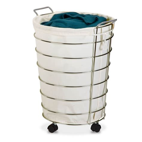 Honey Can Do Wire Rolling Hamper Chrome  Ebay.