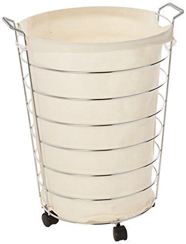 Honey-Can-Do Hmp-02108 Steel Canvas Rolling Laundry Hamper .