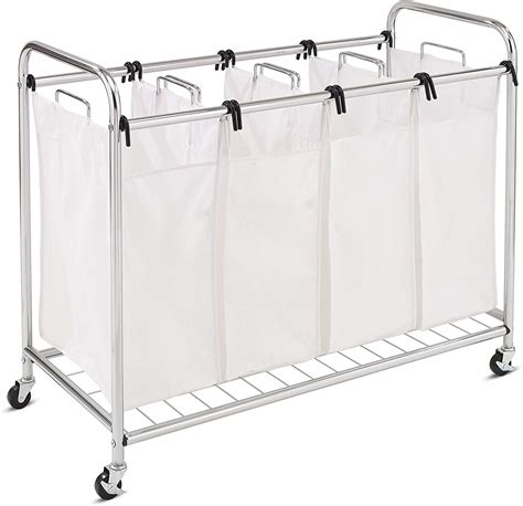 Honey-Can-Do Heavy Duty Quad Rolling Laundry Sorter Hamper .