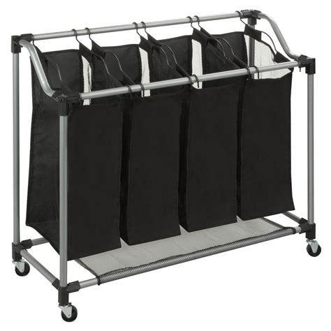 Honey-Can-Do Quad Laundry Sorter With Mesh Bags Steel .