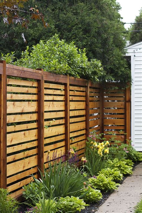 Horizontal Board Fence Designs