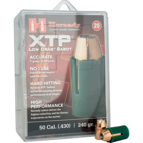 Hornady Xtp Bullets 50 Caliber Sabot With 44 Caliber 240 .
