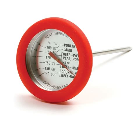 Hot Sale Norpro 5978 Soft Grip Silicone Meat Thermometer.