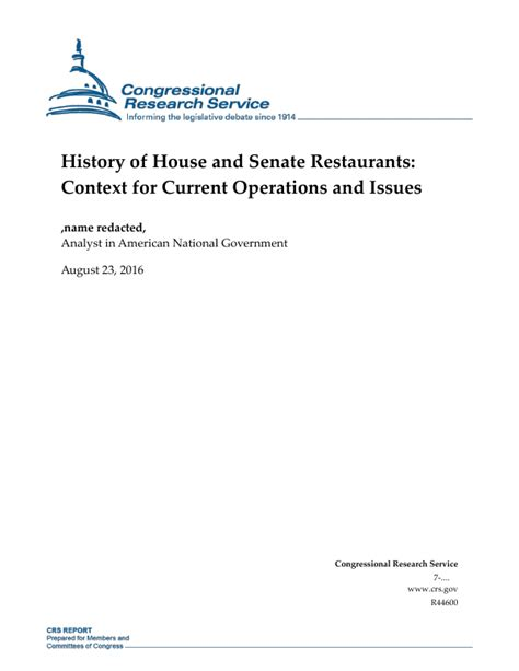 [pdf] House And Senate Restaurants Current Operations And .
