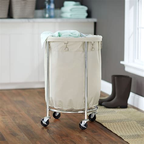 Household Essentials Commercial Round Laundry Hamper.