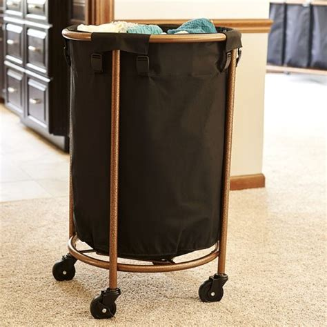 Household Essentials Round Laundry Hamper With Wheels .