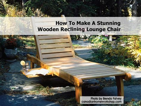 How To Build A Reclining Chair