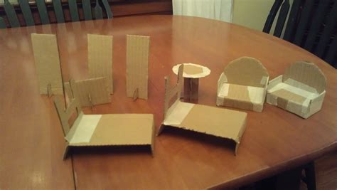 How To Build Dollhouse Furniture Out Of Cardboard