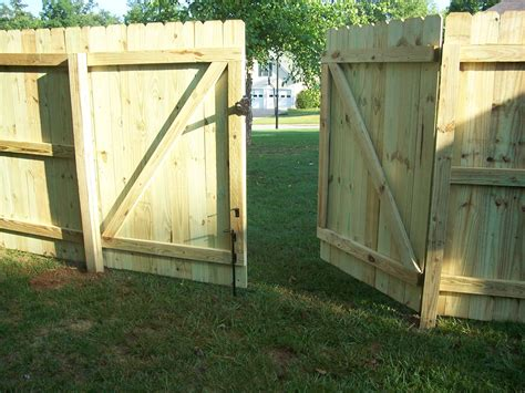 How To Build Double Wooden Fence Gates