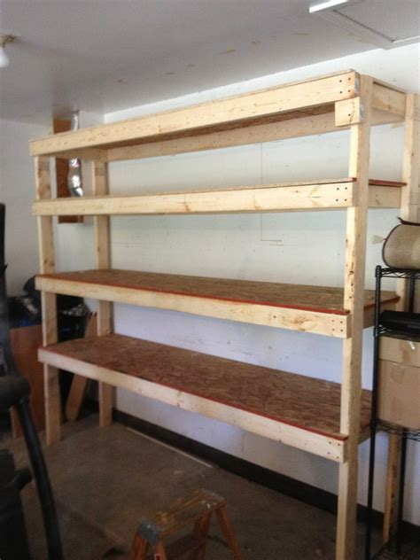 How To Build Garage Shelving 2x4
