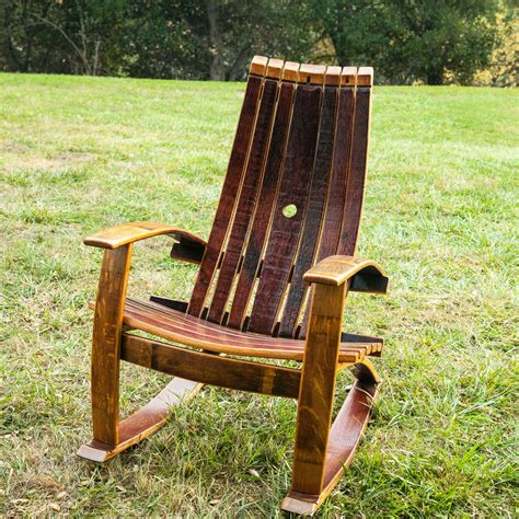 How To Build Rocking Chair From Wine Barrel