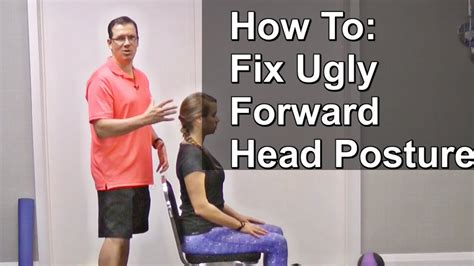 How To Fix Forward Head Posture - 3 Easy Exercises (from A.